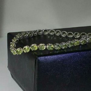 Jewelry - Peridot Tennis Bracelet 11 Carat TW